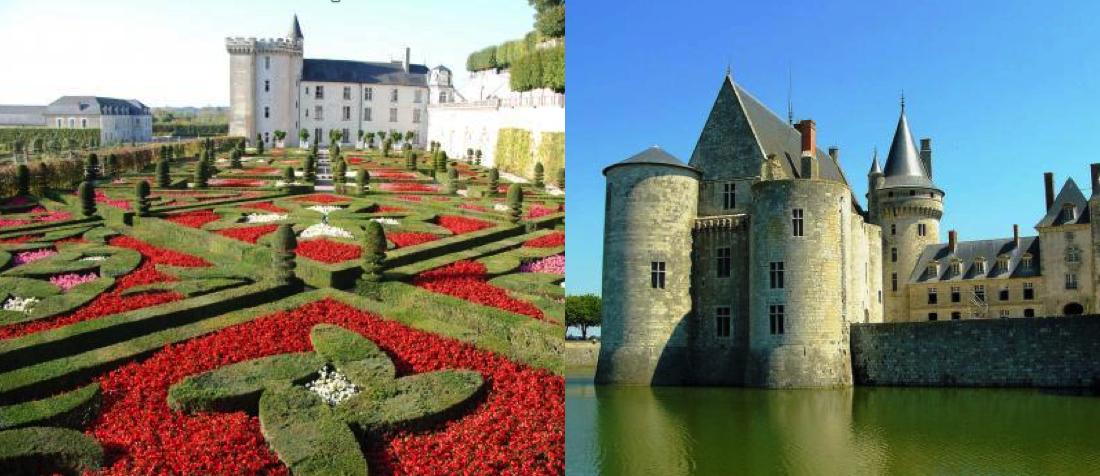 jardines de villandry y Castillo de Sully-sur-Loire